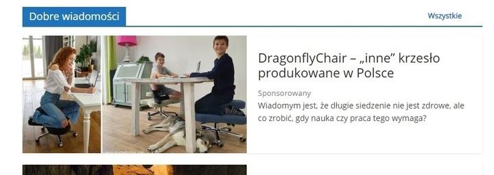 Artykuł o krześle profilaktycznym Dragonfly